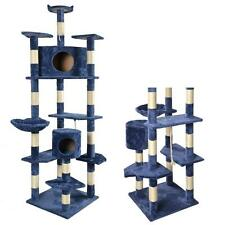 "80"" Navy Blue Cat Tree Condo Furniture Scratching Post Pet Cat Kitten House 9080"