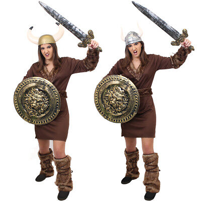 LADIES VIKING COSTUME MEDIEVAL WARRIOR FANCY DRESS OUTFIT CHOOSE ACCESSORIES (Medieval Costume Accessories)