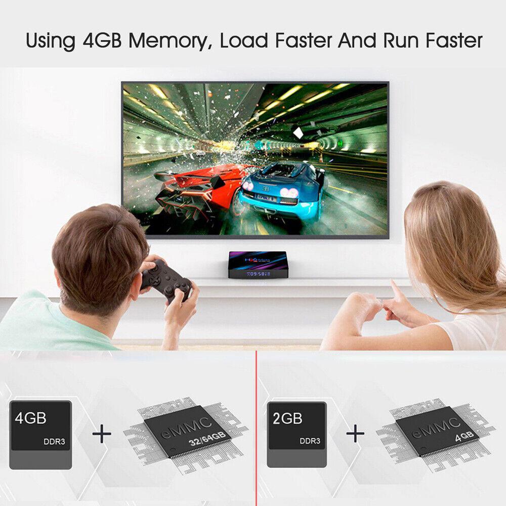H96 Max 4K Ultra HD 64Bit Wifi Android 9.0 Quad Core Smart TV Box Media Player 1