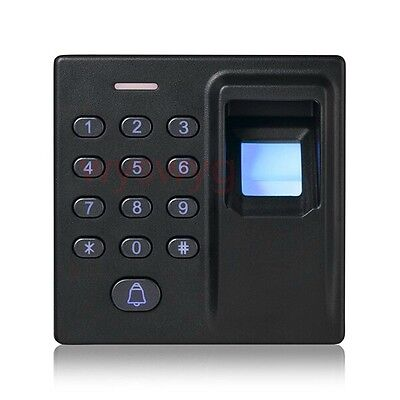 Fingerprint 125KHz EM RFID Password Door Access Control Reader Keypad 5pcs Card
