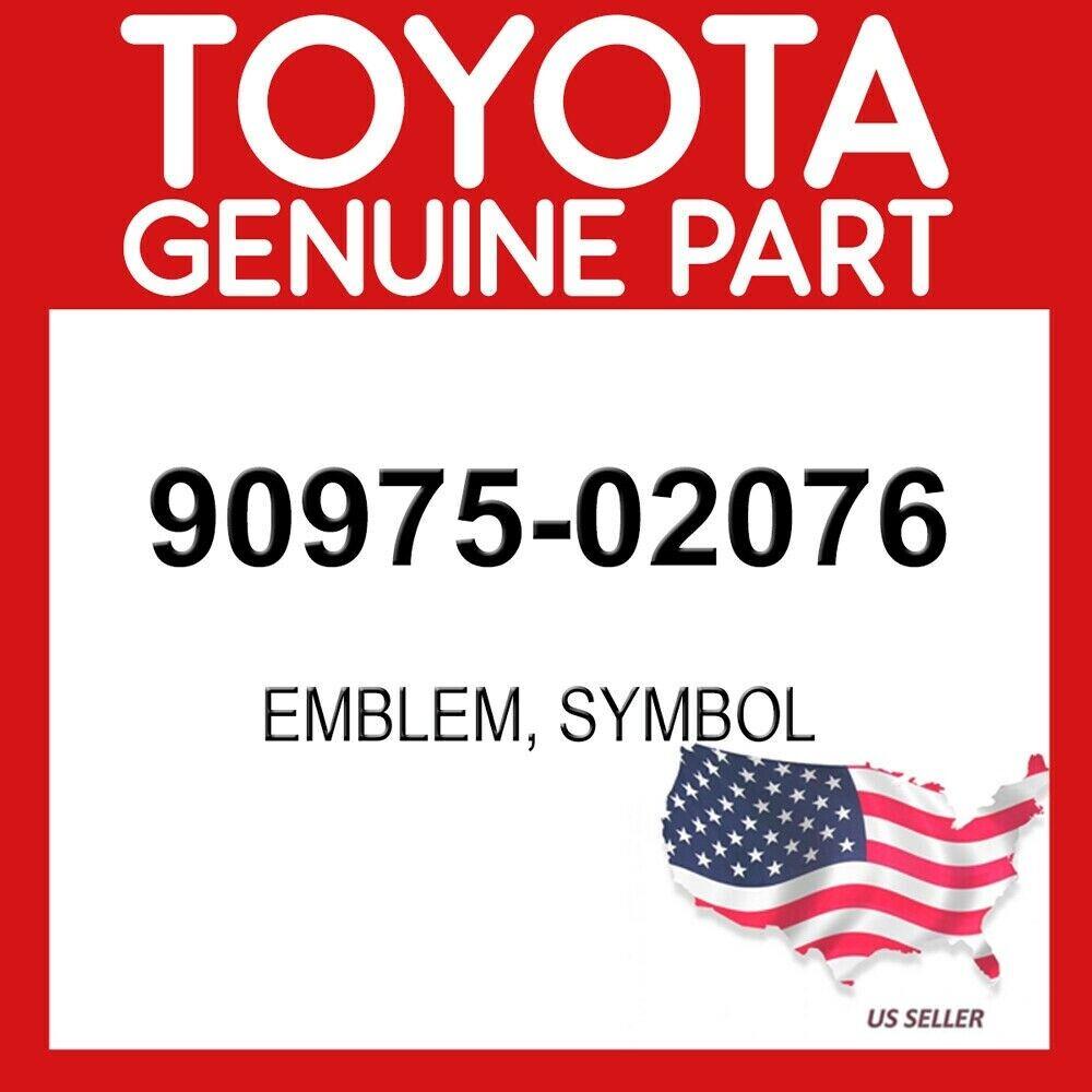 TOYOTA LAND CRUISER FRONT GRILLE EMBLEM OEM 2005-2014 MODELS 90975-02076