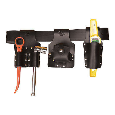 Black Leather Scaffolding Tools Belt Set - With Tools - Connell Of Sheffield