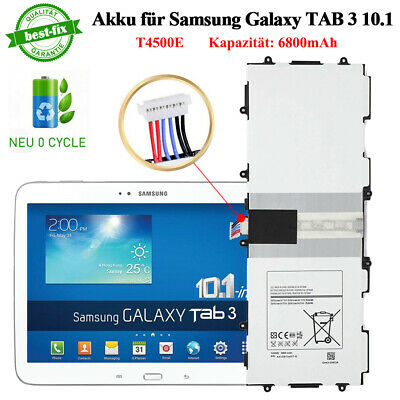2019 Akku für Samsung Galaxy TAB 3 10.1 6800mAh Batterie Tablet Battery T4500E (Tablet-akku Samsung)