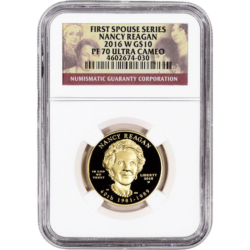 2016-W US First Spouse Gold 1/2 oz Proof $10 - Nancy Reagan NGC PF70