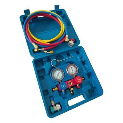 R134a Manifold Gauge Set Hvac Ac Refrigeration Charging Kit 5ft
