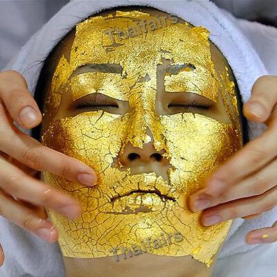 300 pcs 24K PURE GOLD LEAF ANTI WRINKLE FACIAL FACE SPA MASK
