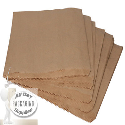500 SMALL BROWN PAPER BAGS ON STRING SIZE 7 X 7