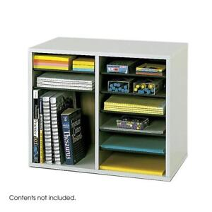 NEW Safco Products Wood Adjustable Literature Organizer - 12 Compartment Condition: New