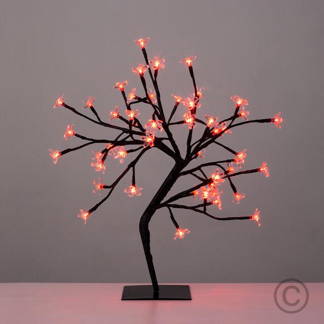 Modern 45cm decorative led bonsai tree table lamp 48 red lights 45cm led bonsai tree 48 red lights decorative light branch lights table lamp mozeypictures Images