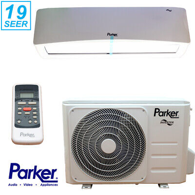 Parker 12000 BTU 1 Ton DC Inverter 19 SEER Air Conditioning Ductless Mini Split