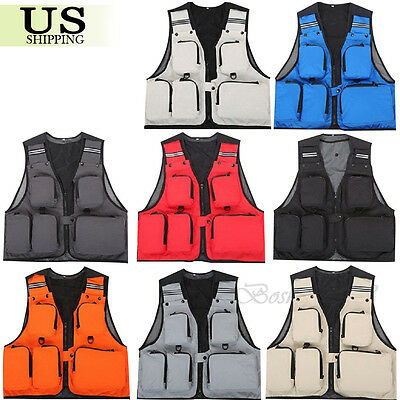 Multi-Pocket Outdoor Fishing Vest Photography Waistcoat Hiking Hunting - Pocket Waistcoat