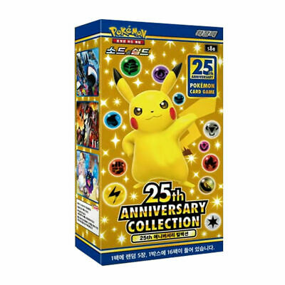 Pokemon Card 25th Anniversary Collection Expansion Pack (16 Packs) / Korean Ver.