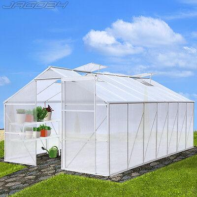 17,53 m³ Gewächshaus Treibhaus Tomatenhaus Alu Pflanzenhaus Frühbeet Gartenhaus