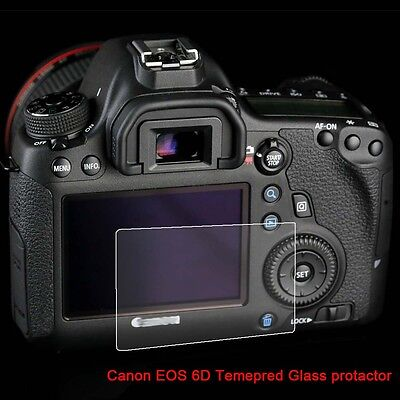 9H Tempered Glass Optical LCD cover shiled Screen protector Film Canon EOS 6D