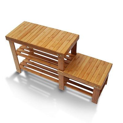 Shoe Storage Benches For Entryway Rack Shelf Boot Organizer Bamboo Hallway Bench