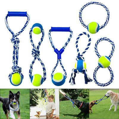 Rope Ring Tug - Dog Chew Toys for Aggressive Chewers Indestructible Braided Cotton Rope Tug Ring