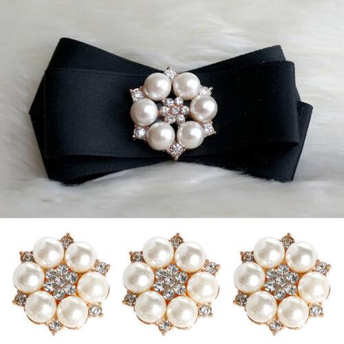 10x Rhinestone Pearl Embellishments Love Flower Flatback Wedding Scrapbook