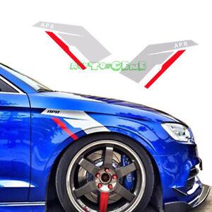 2x APR Fender Side Scuttles Race Vinyl Decal Stickers for Cars Trucks, etc (L&R)
