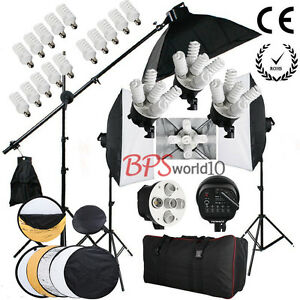 3x950W Photography Softbox Continuous Lighting Kit Studio Boom arm Reflector UK - <span itemprop=availableAtOrFrom>Warsaw, Polska</span> - Zwroty są przyjmowane - Warsaw, Polska