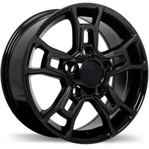 18 Replika Wheel Set 2007-2019 Toyota Tundra 18x8 5x150 +60mm Roue Noir Mags Winter Wheels Mag Rims Gloss Black