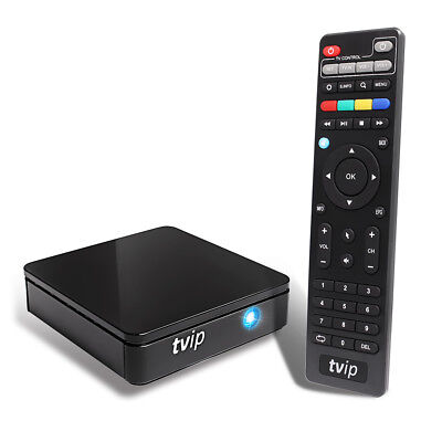 TVIP 412 IPTV Box with WLAN Stalker Portal M3U HEVC H.265 Stream Media Player