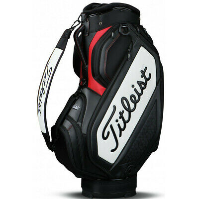 NEW Titleist Golf 2019 Midsize Staff Bag 6-way Top Black / White / Red