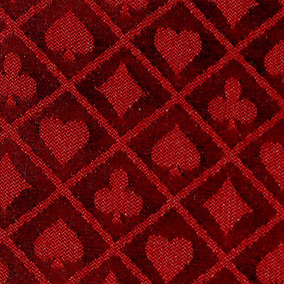 Poker Table Speed Cloth - 10FT X 5FT Red Two Tone Suited Speed Cloth Poker Table Felt 100% Polyester