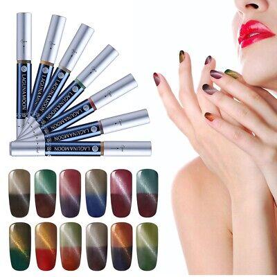 Lagunamoon Thermal Color Changing Cat Eye Nail Gel Polish Pen Varnish Salon US