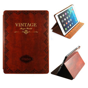 Classic-Retro-Vintage-Book-Bible-Smart-Cover-PU-Leather-Case-For-iPad-Air-5-5th