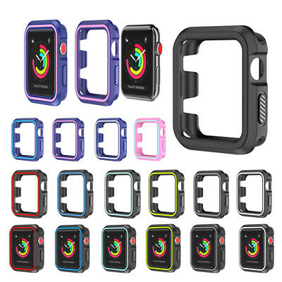 Bumper Silicone Skin (Soft Silicone Protective Bumper Skin Case Cover For Apple Watch iWatch 38 & 42mm )