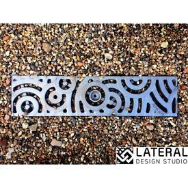 Aquascape Oblio Cast Iron Channel Drain Grate 125 x 1000mm (5 inch)