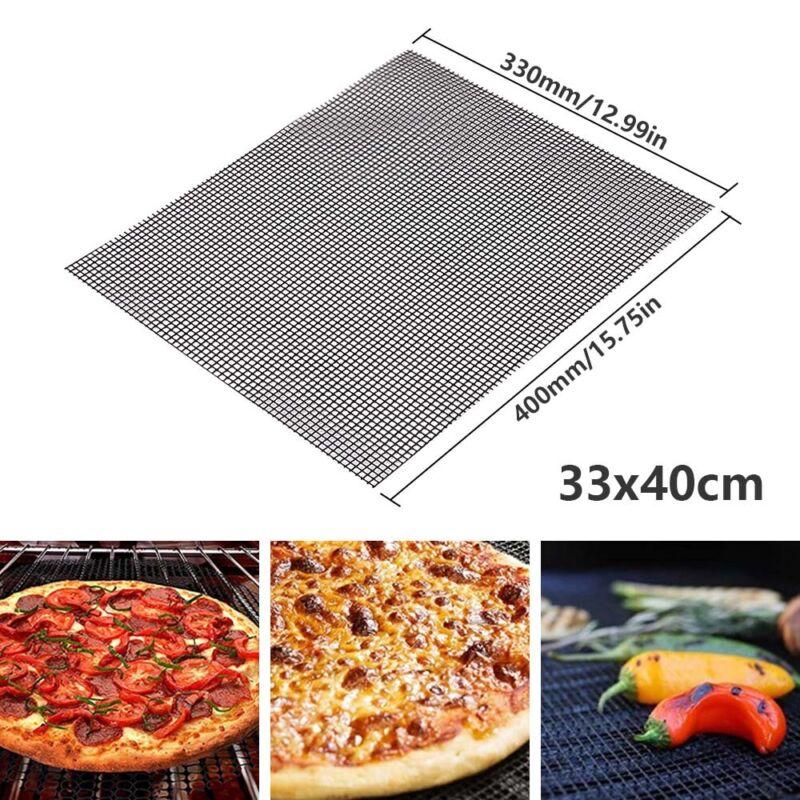 2//3Pcs 30*40cm BBQ Grill Ersatz Teflon Mesh Draht Netz Draussen Kochen Backmatte