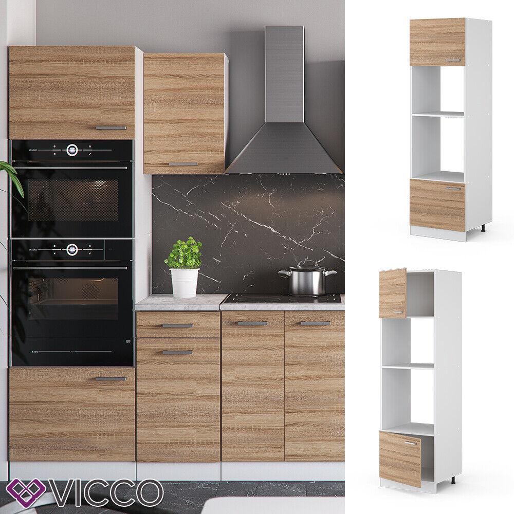 VICCO Küchenschrank Hängeschrank Unterschrank Küchenzeile R-Line Mikrowellenumbauschrank 60 cm sonoma