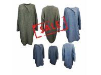 FREE DELIVERY AMAVISSE UK - NEW Women Winter Irregular Casual Loose Sweater Jacket Poncho Coat