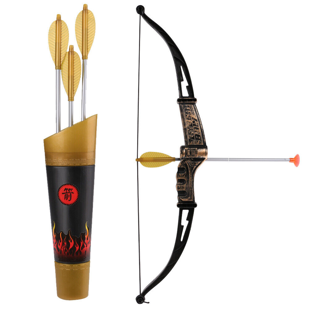 10 Pcs Warrior Ninja Kids Pretend Role Play Toy Set With Bow Arrow Sword Mask