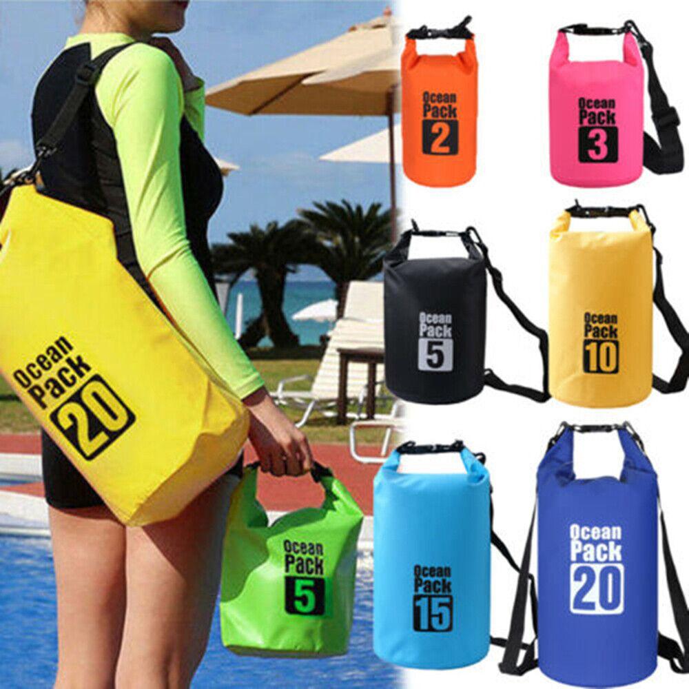 2pcs 20//30L Waterproof Dry Bag Storage Pack Sack Outdoor Sport Beach Camping
