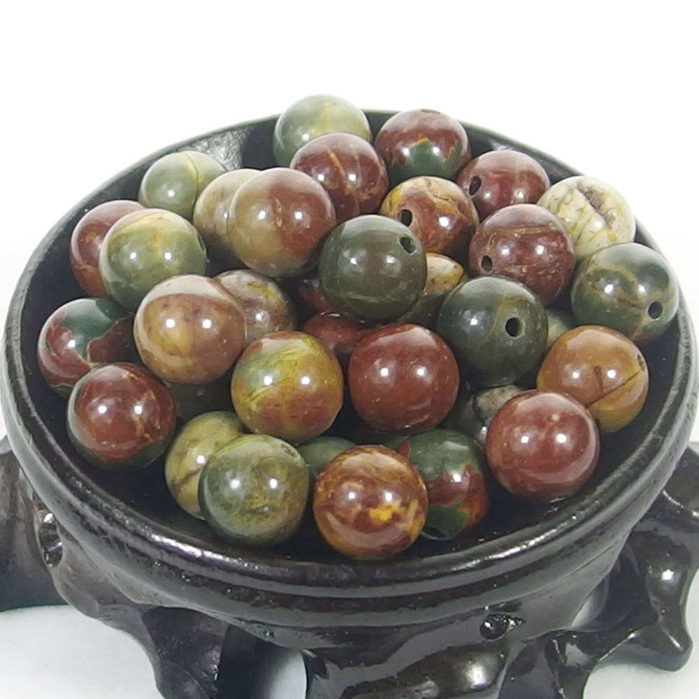 Bulk Gemstones I natural spacer stone beads 4mm 6mm 8mm 10mm 12mm jewelry design picasso jasper