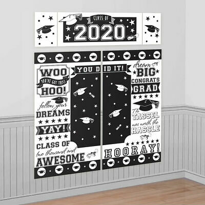 Abschluss Szene Setter Klasse Von 2020 Party Wand Dekoration Hintergrund Weiß