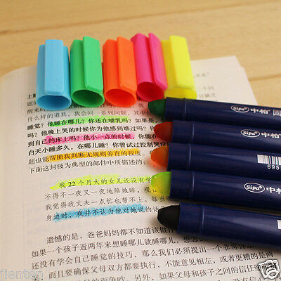 1x Cute Crayon Highlighter Office School Supplies Stationery Markers Pen Tool