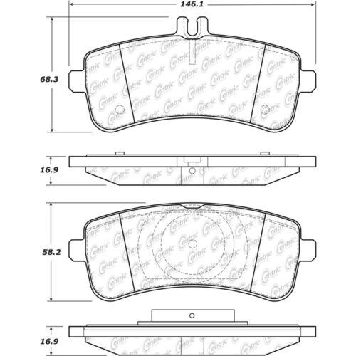 Centric Parts Ceramic Disc Brake Pads CT97578 FRONT + REAR SET