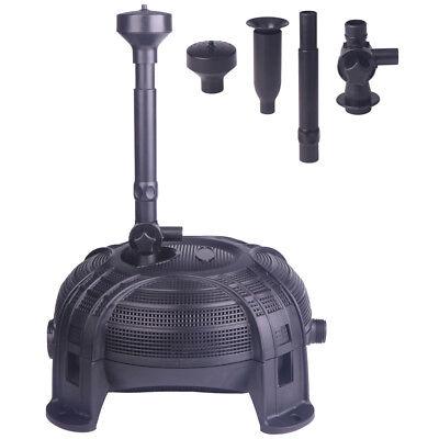650GPH 28W Waterfall Filter Pond Koi Pump Submersible Fountain Water Pump Kit