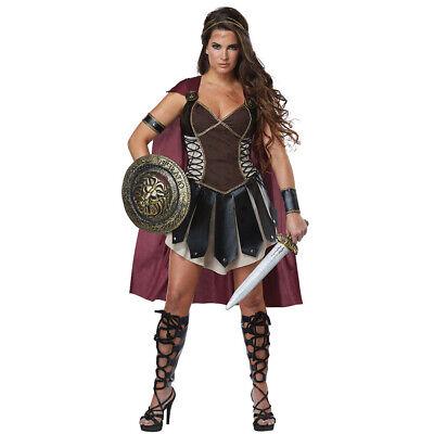 Medieval Gladiator Xena Roman Spartan Women Costume Halloween Fancy Dress Outfit](Xena Halloween Costumes)