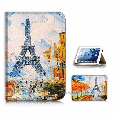 ( For iPad Mini Gen 1 2 3 ) Flip Case Cover AJ31077 Eiffel Tower Paris (Ipad Mini 3 Cover Paris)