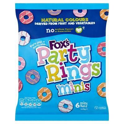 3 X Fox 'S Party Ringe Minis Kekse 6 Taschen Tolle Snacks für Kinder Spaß ()