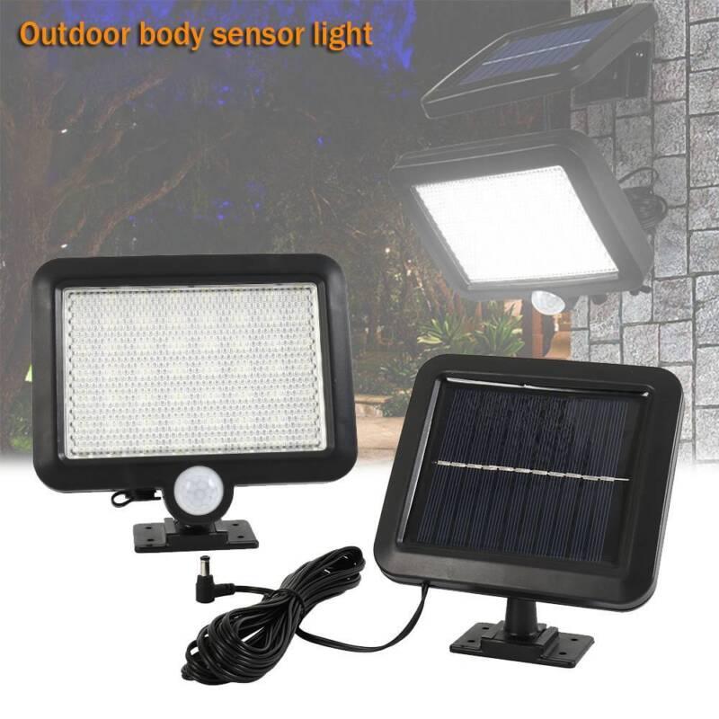 56 led lampe solaire projecteur capteur détecteur mouvement jardin extérieur