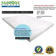 ON SALE!! Cool Gel Memory Foam Mattress Topper w/ Bamboo Cover Brisbane City Brisbane North West Preview