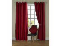 Red ring top curtains 46x54""