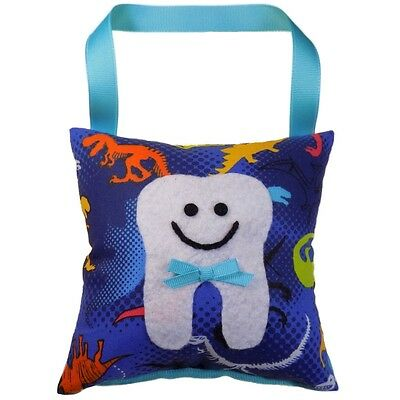 Tooth Fairy Pillow Boy's Dinosaur Print Hand Crafted Made in the USA **NEW**
