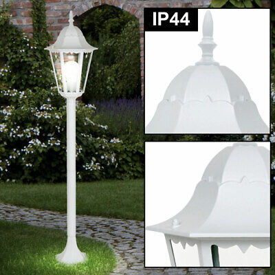 Outdoor Stand Lamp ALU Lantern Terraces Lighting Garden Yard Path Lamp white new