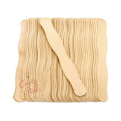 100 Wavy Jumbo Wood Craft Sticks for Wedding Fans and Crafts -FREE SHIPPING! for sale  Nampa